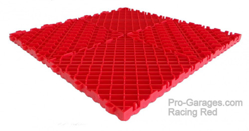 "Ribtrax ""Racing Red"" SALE PRICE ONLY $3.96 PER SQ FT Tile Size: 15 3/4"" x 15 3/4"" (1 Tile = 1.72 sq ft)"