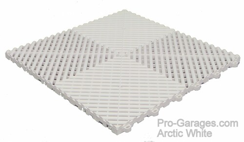 "Ribtrax ""Arctic White"" SALE PRICE ONLY $3.96 PER SQ FT Tile Size: 15 3/4"" x 15 3/4"" (1 Tile = 1.72 sq ft)"