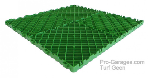 """Ribtrax Pro SPECIAL """"Turf Green"""" Tiles (6-Pack) SALE PRICE ONLY $5.05 PER SQ FT Tile Size: 15 3/4"""" x 15 3/4"""" (1 Tile = 1.72 sq ft)"""