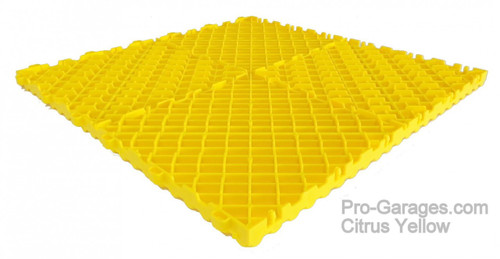 "Ribtrax ""Citrus Yellow"" SALE PRICE ONLY $3.96 PER SQ FT Tile Size: 15 3/4"" x 15 3/4"" (1 Tile = 1.72 sq ft)"