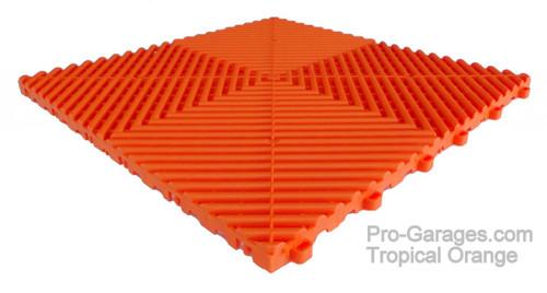 "Ribtrax Pro  STANDARD ""Tropical Orange""  Tiles (6-Pack) SALE PRICE ONLY $4.20 PER SQ FT - Tile Size: 15 3/4"" x 15 3/4"" (1 Tile = 1.72 sq ft)"