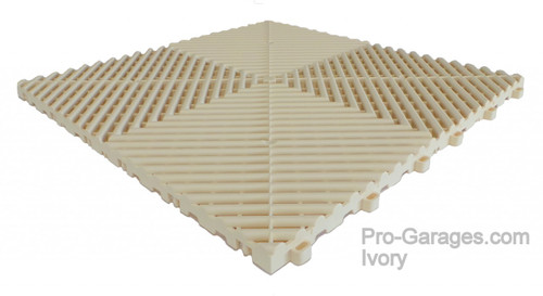 "Ribtrax ""Ivory"" Tile SALE PRICE ONLY $3.96 PER SQ FT - Size: 15 3/4"" x 15 3/4"" (1 Tile = 1.72 sq ft)"