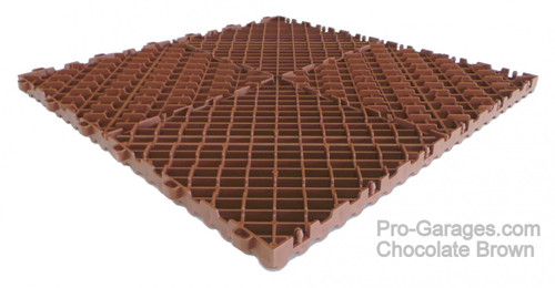 "Ribtrax Pro ""Chocolate Brown"" Tile SALE PRICE ONLY $3.96 PER SQ FT - Size: 15 3/4"" x 15 3/4"" (1 Tile = 1.72 sq ft)"