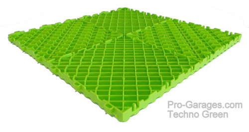 """Ribtrax Pro SPECIAL""""Techno Green"""" Tiles (6-Pack) SALE PRICE ONLY $5.05 PER SQ FT - Size: 15 3/4"""" x 15 3/4"""" (1 Tile = 1.72 sq ft)"""