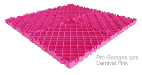 "Ribtrax Pro ""Carnival Pink"" Tile SALE PRICE ONLY $3.96 PER SQ FT - Size: 15 3/4"" x 15 3/4"" (1 Tile = 1.72 sq ft)"