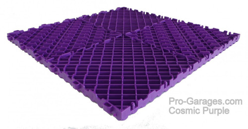 """Ribtrax Pro SPECIAL """"Cosmic Purple"""" Tiles (6-Pack) SALE PRICE ONLY $5.05 PER SQ FT - Size: 15 3/4"""" x 15 3/4"""" (1 Tile = 1.72 sq ft)"""