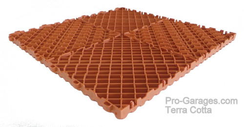 "Ribtrax ""Terra Cotta"" SALE PRICE ONLY $3.96 PER SQ FT Tile Size: 15 3/4"" x 15 3/4"" (1 Tile = 1.72 sq ft)"