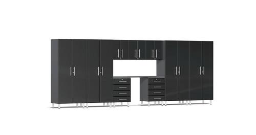 Ulti-MATE Garage 2.0 Series 10-Piece 18' Kit with Recessed Worktop - Black (UG22101B)