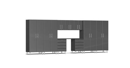Ulti-MATE Garage 2.0 Series 10-Piece 18' Kit with Recessed Worktop - Grey (UG22101G)