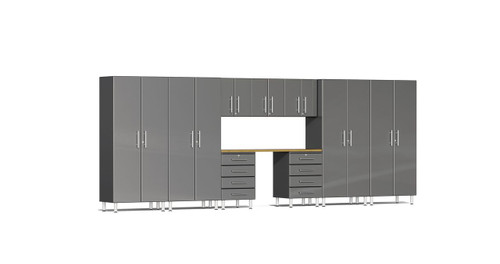 Ulti-MATE Garage 2.0 Series 10-Piece 18' Kit with Recessed Worktop - Grey (UG22102G)
