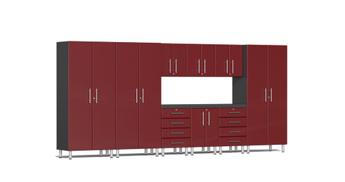 Ulti-MATE Garage 2.0 Series 10-Piece 15' Kit with Recessed Worktop - Red (UG23101R)