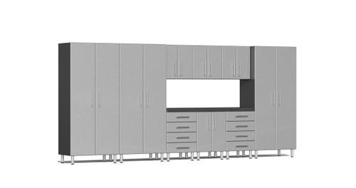 Ulti-MATE Garage 2.0 Series 10-Piece 15' Kit with Bamboo Worktop Upgrade- Silver (UG23101S)