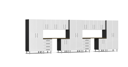 Ulti-MATE Garage 2.0 Series 15-Piece 21' Kit with Recessed Worktop - White (UG22152W)