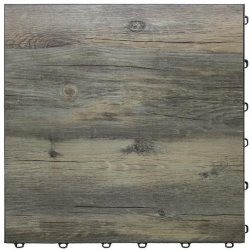 """Reclaimed Pine Vinyltrax Garage Floor Tile - """"Only $6.36 Per S/F"""" (Tile Size: 15 3/4"""" x 15 3/4"""")"""