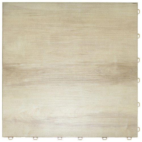 "Light Maple Vinyltrax Garage Floor Tile - ""Only $6.36 Per S/F"" (Tile Size: 15 3/4"" x 15 3/4"")"