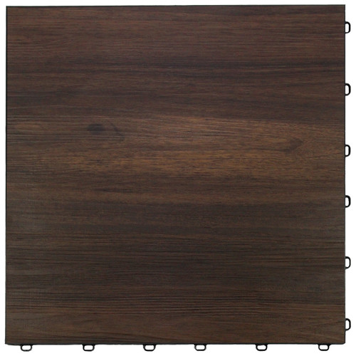 "Dark Oak Vinyltrax Garage Floor Tile - ""Only $6.36 Per S/F"" (Tile Size: 15 3/4"" x 15 3/4"")"