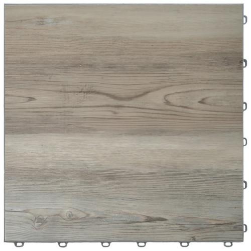 "Ash Pine Vinyltrax Garage Floor Tile - ""Only $6.36 Per S/F"" (Tile Size: 15 3/4"" x 15 3/4"")"