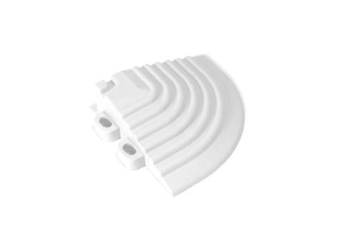 "Arctic White SwissTrax Corner - Size: 2-1/2""[L] x 2-1/2""[W]"