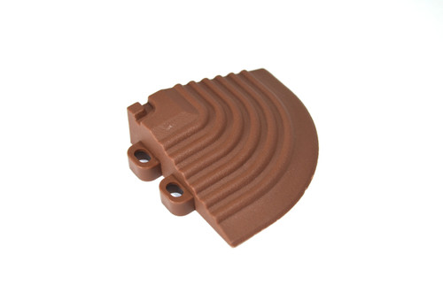 "Chocolate Brown SwissTrax Corner - Size: 2-1/2""[L] x 2-1/2""[W]"