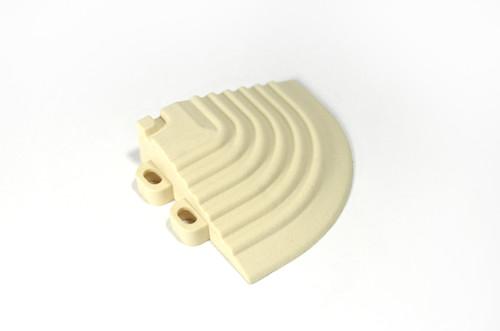 "Ivory SwissTrax Corner - Size: 2-1/2""[L] x 2-1/2""[W]"
