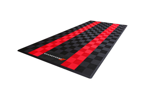Dodge Car Pads by SwissTrax (RibTrax) - Blk / Red