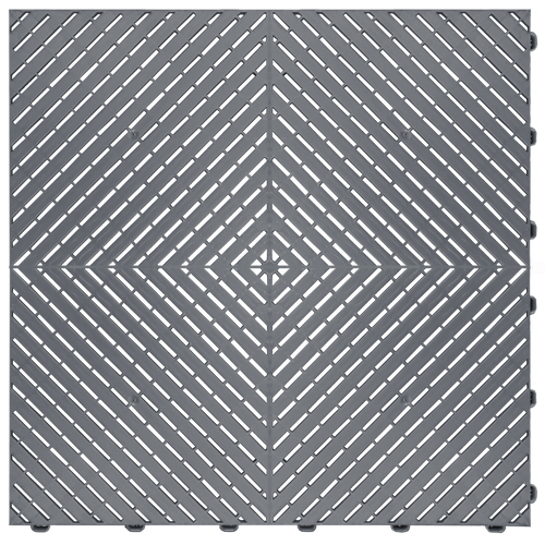 """Slate Grey"" RibTrax (RT) Smooth by SwissTrax - SALE PRICE ONLY $3.96 PER SQ FT Tile Size: 15.75"" x 15.75"" x .75 (1 Tile = 1.72 sq ft)"
