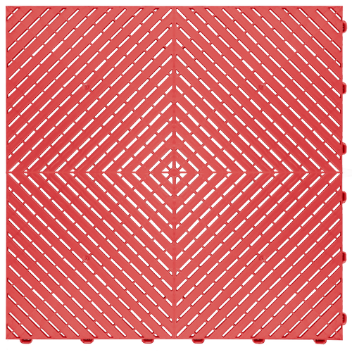 """Racing Red"" RibTrax (RT) Smooth by SwissTrax - SALE PRICE ONLY $3.96 PER SQ FT Tile Size: 15.75"" x 15.75"" x .75 (1 Tile = 1.72 sq ft)"