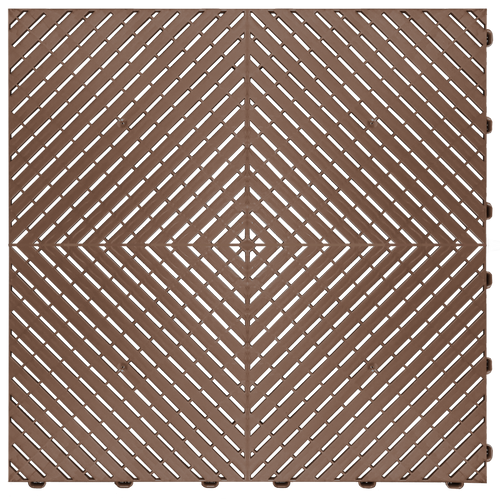 """Chocolate Brown"" RibTrax (RT) Smooth by SwissTrax - SALE PRICE ONLY $3.96 PER SQ FT Tile Size: 15.75"" x 15.75"" x .75 (1 Tile = 1.72 sq ft)"