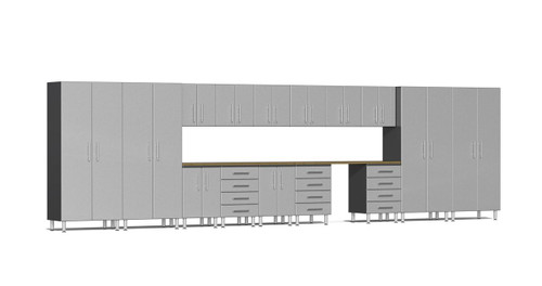 Ulti-MATE Garage 2.0 Series 17-Piece 24' Super-System - Silver (UG22172S)