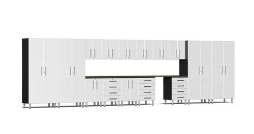 Ulti-MATE Garage 2.0 Series 17-Piece 24' Super-System - White (UG22172W)