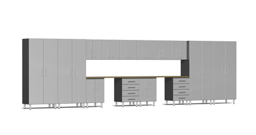 Ulti-MATE Garage 2.0 Series 16-Piece 24' Super-System - Silver (UG22162S)