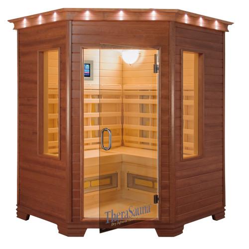 TheraSauna TS6439 Far Infrared Sauna (Pictured in Mahogany Finish)