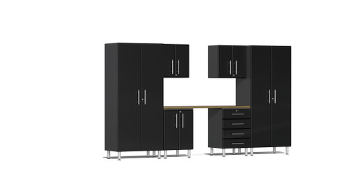 Ulti-MATE Garage 2.0 Series 12' -  7-Piece Kit with Workstation (UG24072B)