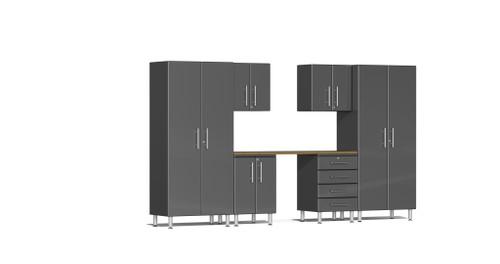 Ulti-MATE Garage 2.0 Series 12' -  7-Piece Kit with Workstation (UG24072G)