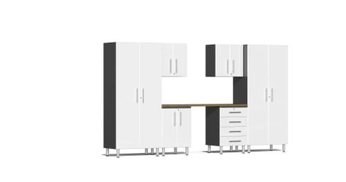 Ulti-MATE Garage 2.0 Series 12' -  7-Piece Kit with Workstation (UG24072W)