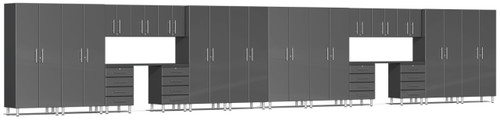 Ulti-MATE Garage Cabinets 36' - 20-Piece Cabinet Kit with Channeled Worktops (UG22201G)