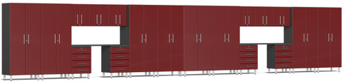 Ulti-MATE Garage Cabinets 36' - 20-Piece Cabinet Kit with Channeled Worktops (UG22201R)