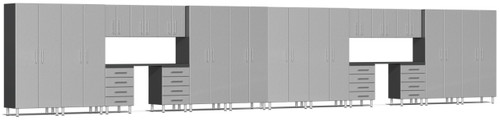 Ulti-MATE Garage Cabinets 36' - 20-Piece Cabinet Kit with Channeled Worktops (UG22201S)