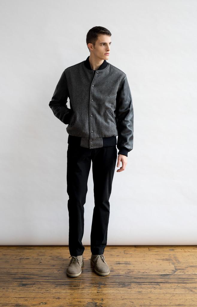 Pacific Standard Varsity Jacket Grey