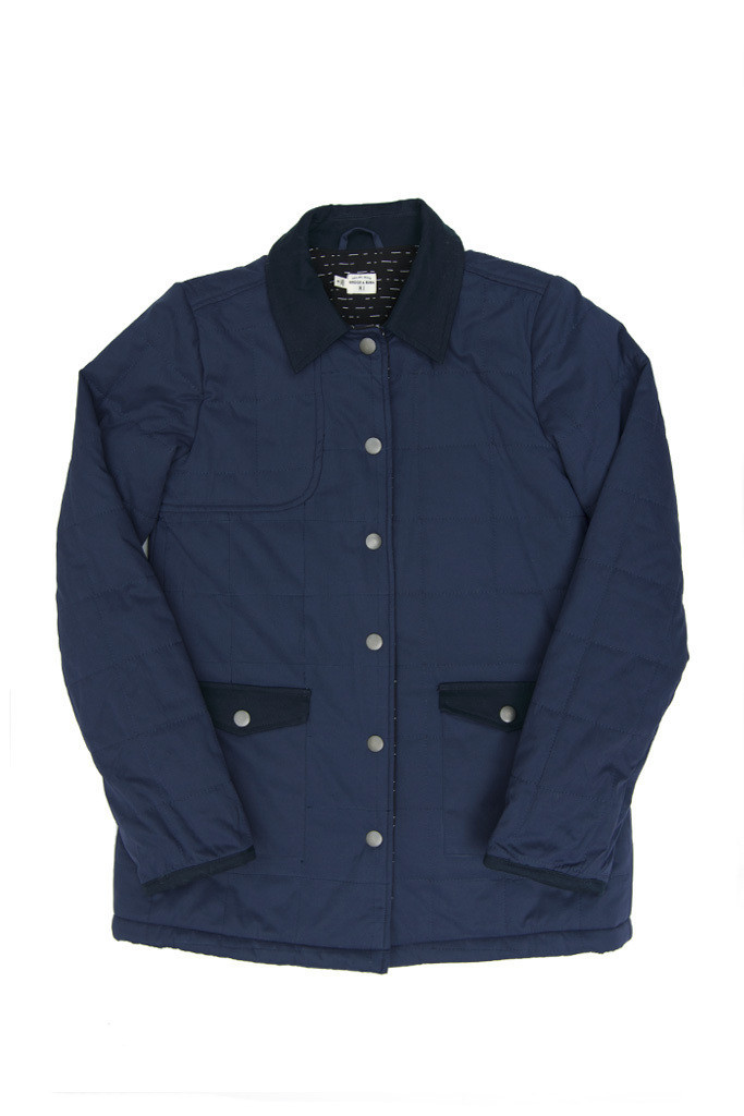 Mayfield Navy Quilted Jacket