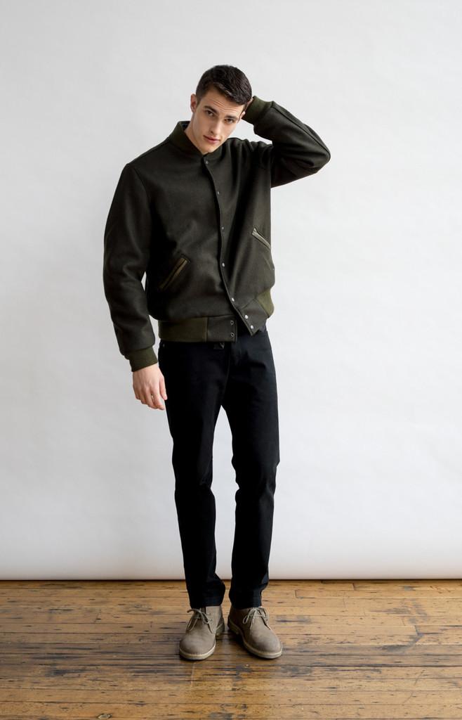 Pacific Standard Varsity Jacket Oive