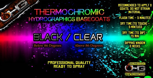 Thermochromic BLACK - CLEAR Basecoat  (PINT)