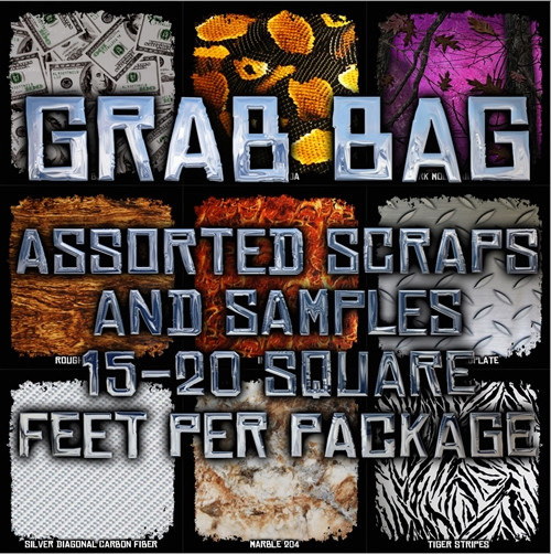 BUY TWO GET ONE FREE! Film GRAB BAG - Scraps & Samples 15-20 Square Feet