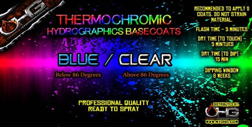 Thermochromic BLUE - CLEAR Basecoat  (QUART)