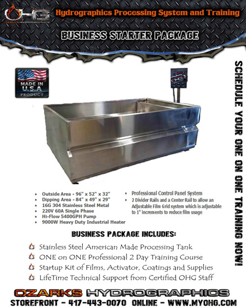 Business Starter Package -  8' Stainless Tank & Training