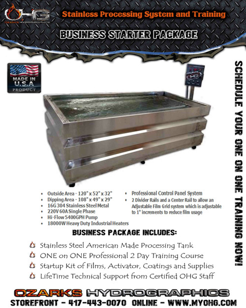 Business Starter Package -  10' Stainless Tank & Training