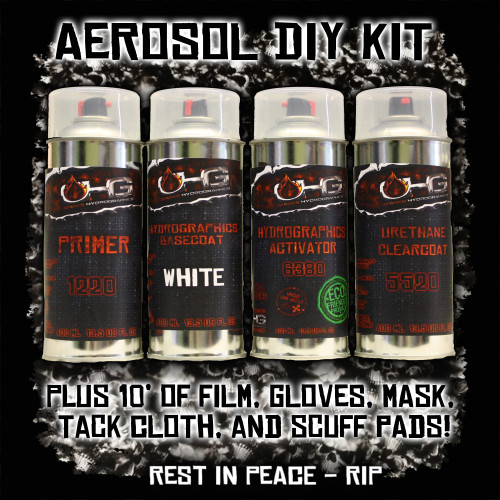 Aerosol DIY Dip Kit -  RIP Rest in Peace Skulls