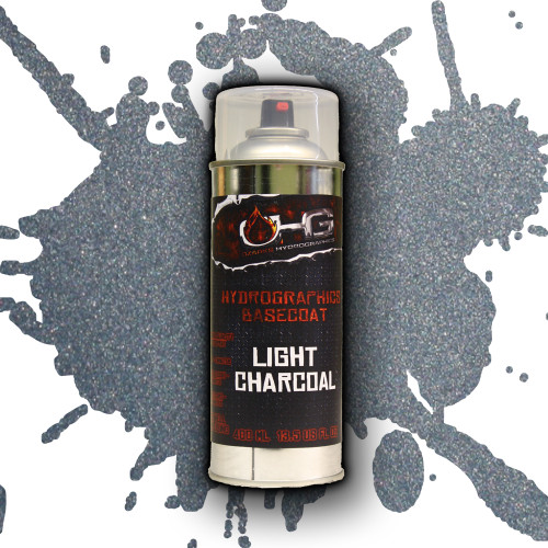 Aerosol Hydrographics Basecoat - Light Charcoal Metallic