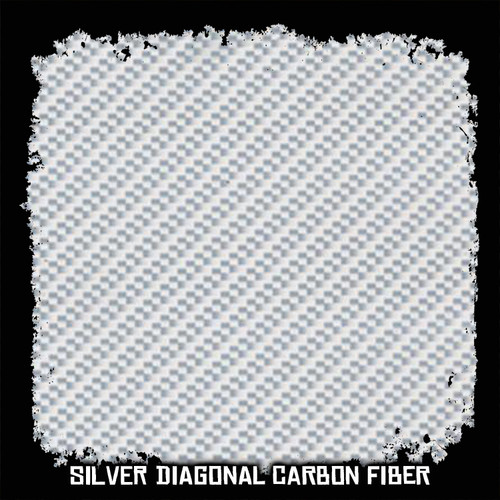 Silver Diagonal Carbon Fiber