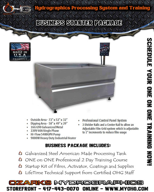 Business Starter Package -  6' Hydrographics Tank & Training